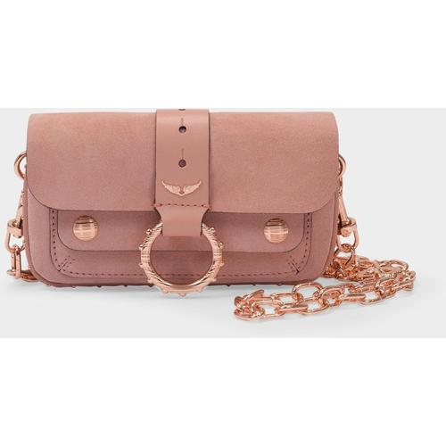 Zadig & Voltaire Kleine Tasche Kate aus rosafarbenem Leder