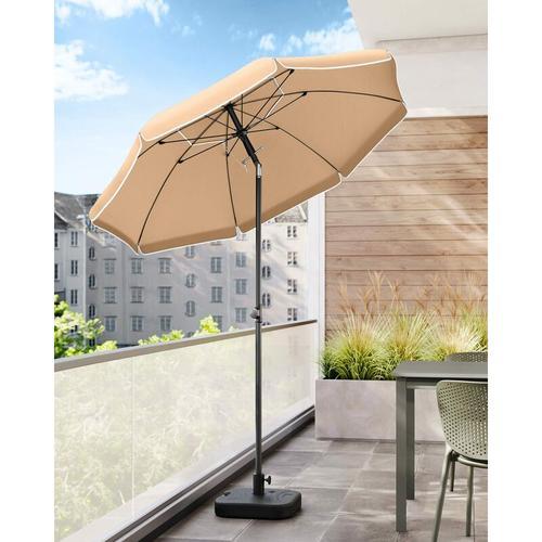 Sonnenschirm, 200cm, Marktschirm, Sonnenschutz, achteckiger Strandschirm, knickbar, mit