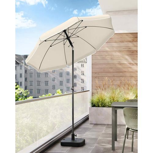 Sonnenschirm für Strand, Ø 200 cm, Gartenschirm, UV-Schutz bis UPF 50+, knickbar, Sonnenschutz,