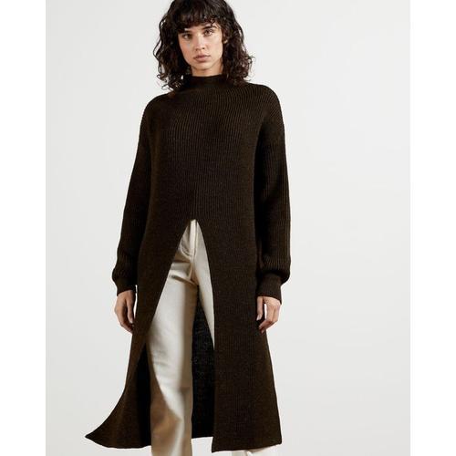 Ted Baker Langer Vorne Geteilter Pullover