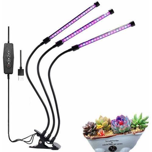 30W LED Pflanzenwachstumslicht, 360 ° 360 ° Drei-Röhren-Pflanzenfülllicht für