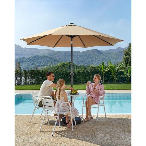 Sonnenschirm, Ø 270 cm, Gartenschirm, Marktschirm, UV-Schutz bis UPF 50+, Terrassenschirm,