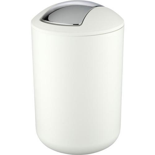 Treteimer Abfalleimer Mülleimer Papierkorb Eimer Kosmetikeimer Brasil Weiß 6,5L