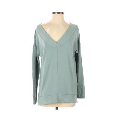 Cupio Sweatshirt: Blue Solid Clothing - Size Small