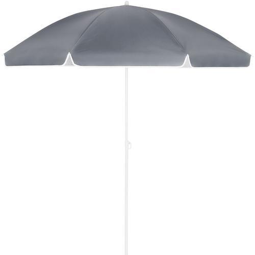 Sonnenschirm UV-Schutz Strandschirm Neigefunktion höhenverstellbar Gartenschirm Anthrazit - 200cm