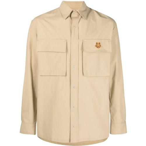 KENZO Hemd mit Tiger-Patch