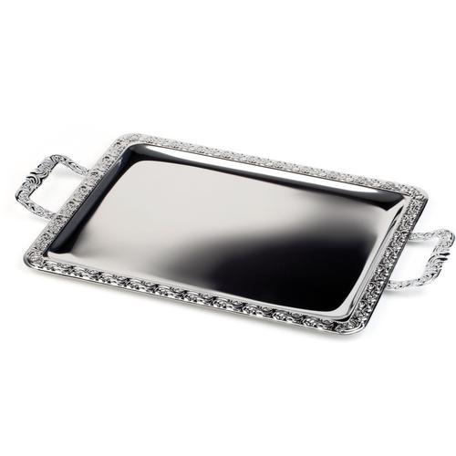 APS Tablett, 31x54 cm silberfarben Tablett Tischaccessoires Geschirr, Porzellan Haushaltswaren
