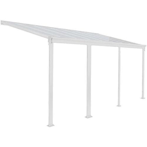 Home Deluxe - Terrassenüberdachung - 618 x 303 x 226 / 278 cm, weiß I Terrassendach, Überdachung,