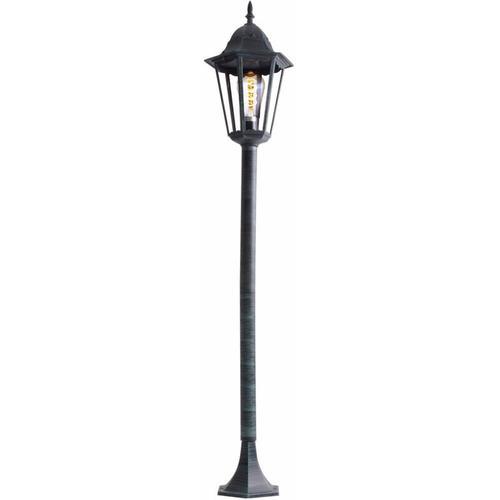 Rustikale Steh Lampe Stand Leuchte Laterne Beleuchtung Außen Strahler im Set inklusive LED