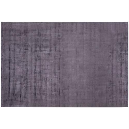 Beliani - Teppich Grau Viskose Baumwolle 200 x 300 cm Glatt Handgetuftet Rechteckig