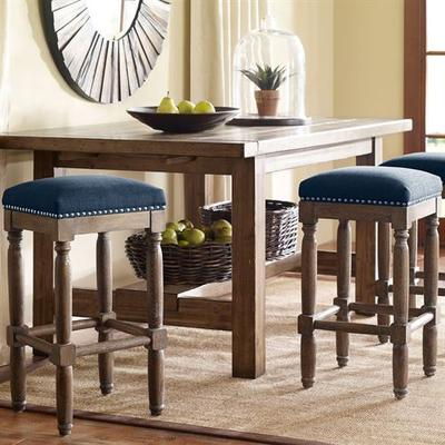 Cirque Backless Counter Stools Set of Two, Set of Two, Navy