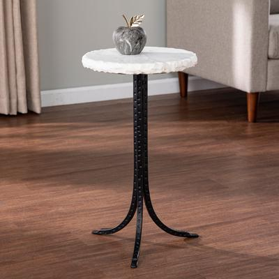 Carbon Loft Gierson Round Marble Top, Round Foyer Table Marble Top