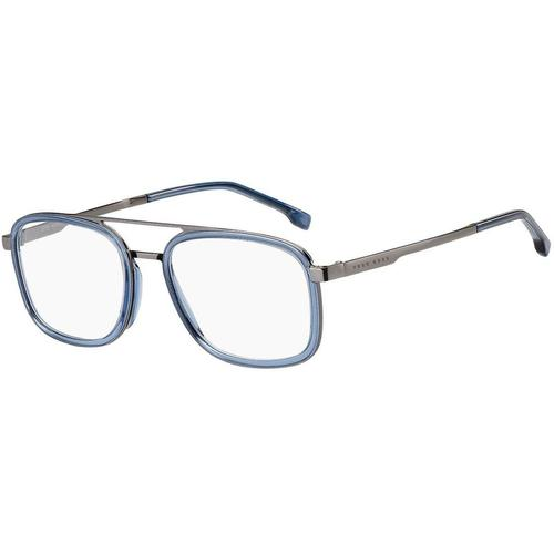 BOSS by Hugo Boss Brille aus blauem Acetat mit Doppelsteg