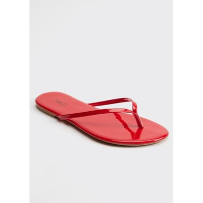 Rue21 Womens Red Flip Flops - Size 6