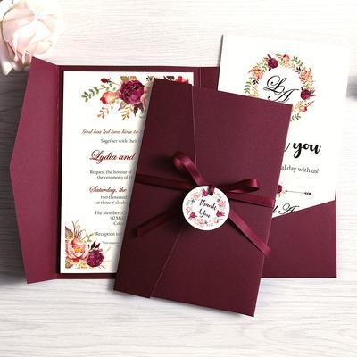 Cartes d'invitation de mariage, ...