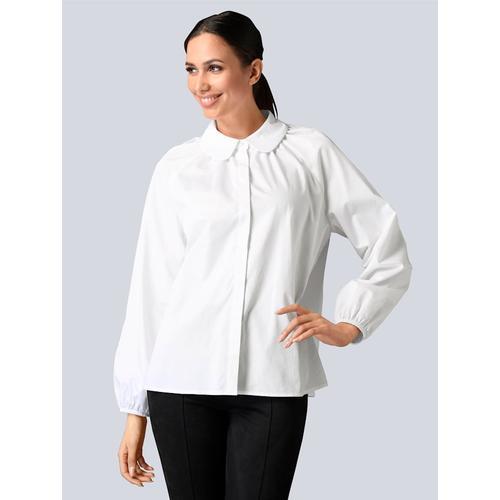 Alba Moda, Bluse mit Bubikragen, weiß