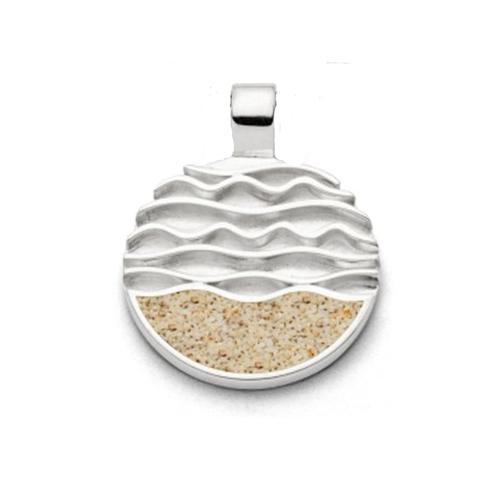 Anhänger - Ebbe und Flut Strandsand Silber 925/000 , DUR silber