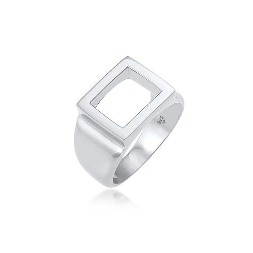 Ring Siegelring Herren Rechteckig 925 Silber Kuzzoi Silber