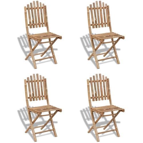 Gartenstühle Bambus faltbar (4 Stück)