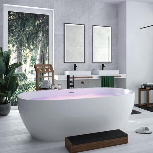 Hoesch iSENSI Freistehende Oval-Badewanne L: 180 B: 80 H: 60 cm ohne Wanneneinlauf 3821.010