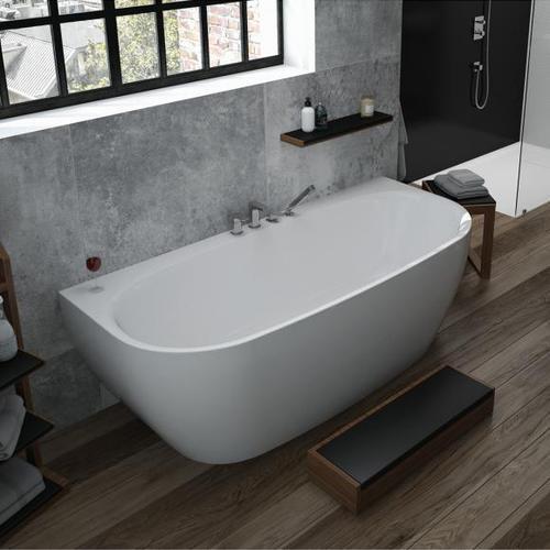 Hoesch iSENSI Vorwand-Badewanne mit Verkleidung L: 180 B: 80 H: 60 cm ohne Wanneneinlauf 3833.010