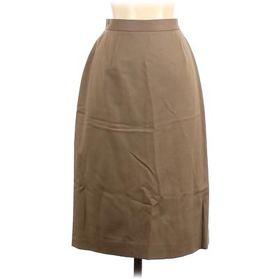 Nordstrom Wool Skirt: Tan Solid Bottoms - Size 6