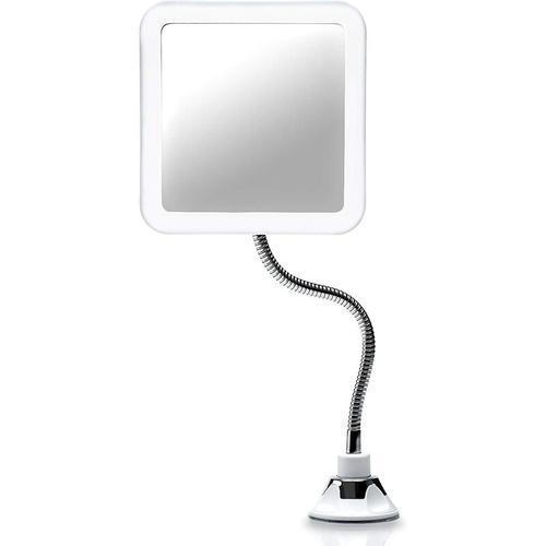 Flexibler Vergrößerungsspiegel mit LED Licht, 5-facher Vergrößerung, Starker Saugnapf