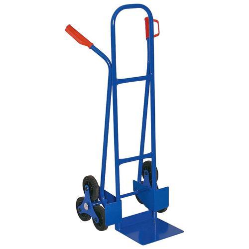 Treppensackkarre, BxTxH 520x560x1210 mm, Tragkraft 175 kg blau Treppensackkarre Sackkarren Transport Werkzeug Maschinen