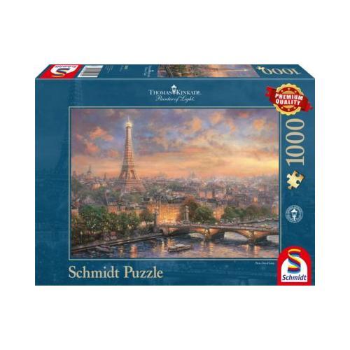 Puzzle Thomas Kinkade: Paris, Stadt der Liebe 1000 Teile