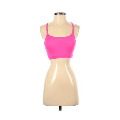Athleta Sports Bra: Pink Solid Activewear - Size 2X-Small