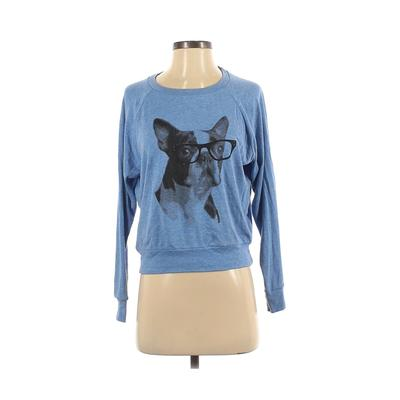 American Apparel - American Apparel Long Sleeve T-Shirt: Blue Tops - Size Small