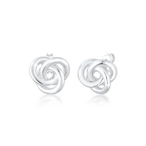 Ohrringe Stecker Knoten Knot Basic Klassisch 925 Silber Elli Silber