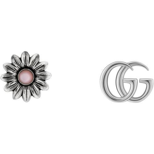 Gucci Ohrstecker mit Doppel G und Blume