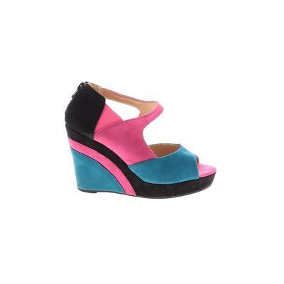 Lady Godiva - Lady Godiva Wedges: Pink Solid Shoes - Size 6 1/2