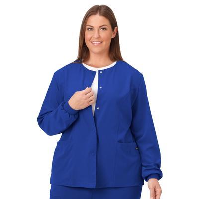 Plus Size Women's Jockey Scrubs Women's Snap to it Warm-Up Jacket by Jockey Encompass Scrubs in Galaxy (Size XL(18-20))