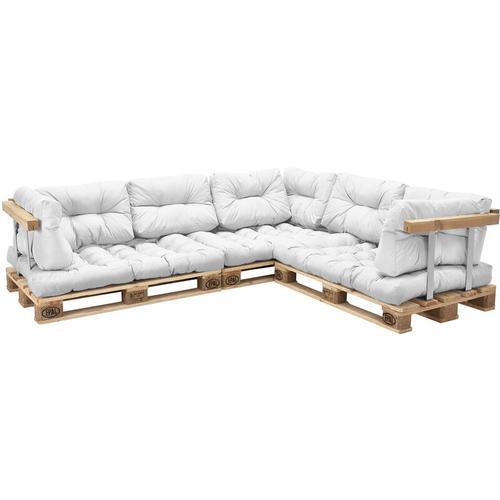 Palettenkissen Mogán 3x Sitzkissen 8x Rückenkissen Weiß