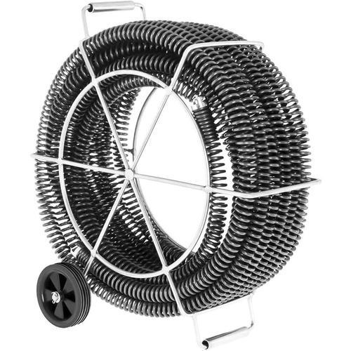 MSW - Spirale Rohrreiniger 32 mm Rohrreinigungsspirale Abflussreiniger 4 X 4 65 M