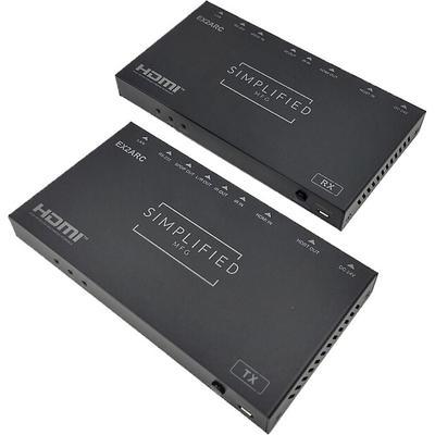 Simplified MFG EX2ARC 4K HDMI 90m Extender Kit with ARC, USB, IR, RS232 & Ethernet