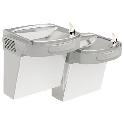 Elkay EZSTL8SC Wall Mount Bi Level Indoor Drinking Fountain - Non Filtered, Refrigerated, Stainless