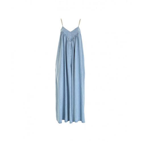 Gaelle Damen Maxi Jumpsuit in Denim Blau