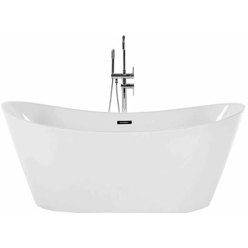 Freistehende Badewanne Weiß Sanitäracryl Oval 160 cm Modern