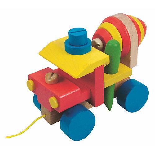 Holzspielzeug Motorik- Betonmischer bunt
