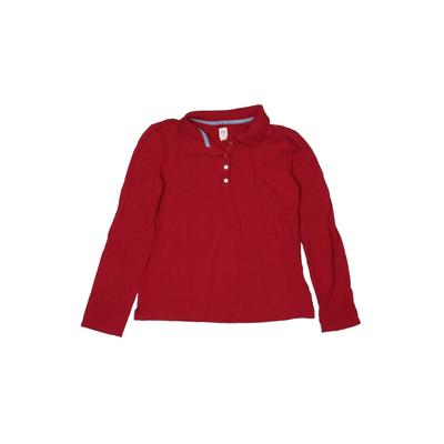 Gap Kids - Gap Kids Long Sleeve Polo Shirt: Red Solid Tops - Size X-Large