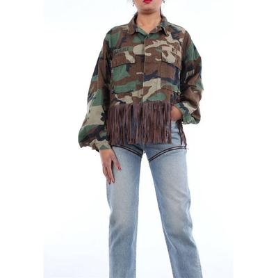 Shirts General Camouflage - Green - R13 Tops