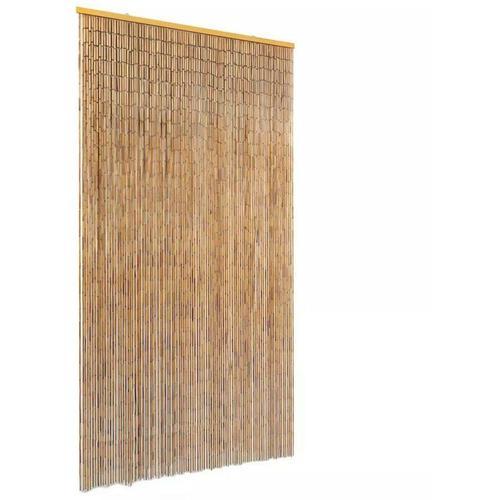 Insektenschutz Türvorhang Bambus 100 x 220 cm 28010 - Topdeal