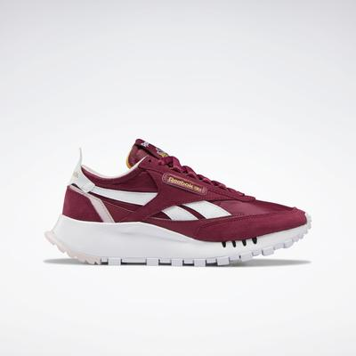 Reebok Women's Classic Leather Legacy Shoes in Punch Berry/Ftwr White/Frost Berry Size 6 - Lifestyle Shoes
