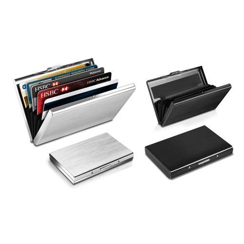 Edelstahl Kreditkarten-Etui mit RFID-Schutz: Silber / 1