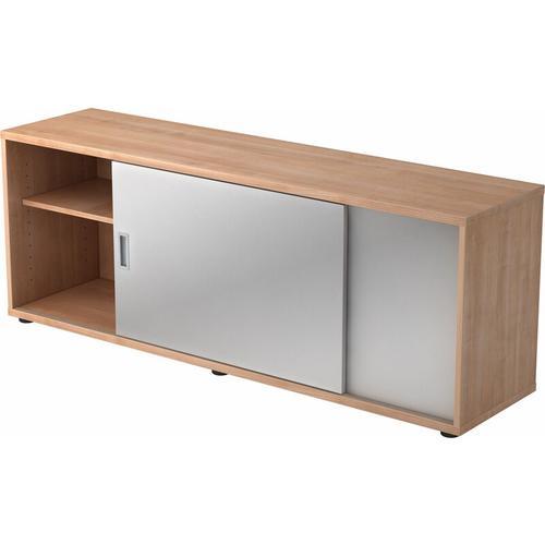 bümö Lowboard Dekor: Nussbaum/Silber