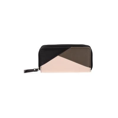 Max Studio - Max Studio Wallet: Black Color Block Bags