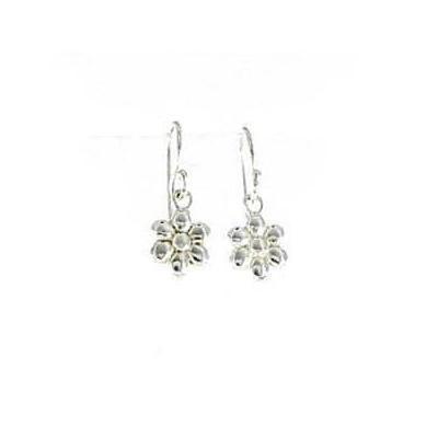Siren Silver - Flower Drop Earrings Sterling Silver